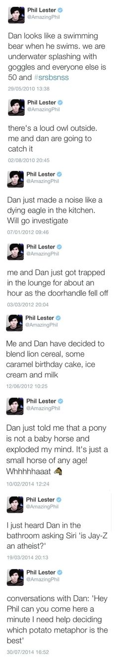 Phil's tweets including Dan: