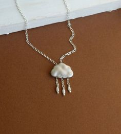 Little Silver Lining  Cloud with Dangling by tinycottagetreasures, $25.00