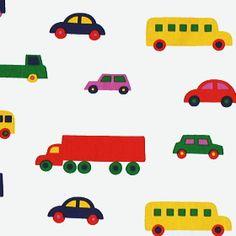 マリメッコ社布(生地)PIKKU BOBOO(ピックブーブー・車柄小)商品画像