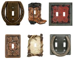 horse shoe decor | Horseshoe Decor| Western Switch Plates| Cowboy Lighting
