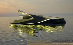 'X-SYM 125', a curvy yacht, designed by S-Move