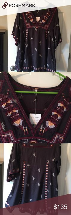 NWT free people Tulum Embrodiry dress XS Signature bohemian design  Size XS $168 Free People Dresses Mini