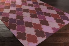 Varick Gallery Crispin Eggplant Geometric Area Rug Rug Size: x Contemporary Area Rugs, Contemporary Furniture, Jewel Tone Bedroom, Dark Wood Stain, Purple Area Rugs, Red Rugs, Pink Rug, Pantone Color, Throw Rugs