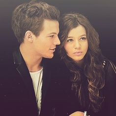 Eleanor Calder and Louis Tomlinson at the TopShop Fashion show