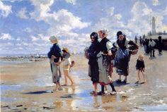 Oyster Gatherers of Cancale John Singer Sargent -- American painter 1878 Corcoran Gallery of Art, Washington DC.