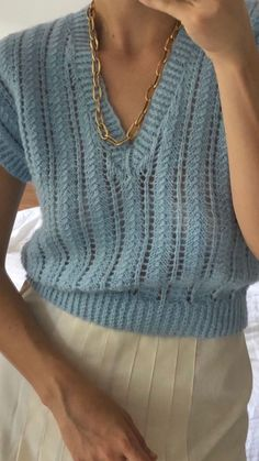 Knitting Sweaters, Pyjamas, Get Dressed, Cable Knit, Spring Summer Fashion, Fashion Forward, Crochet Top, Knitwear, Base