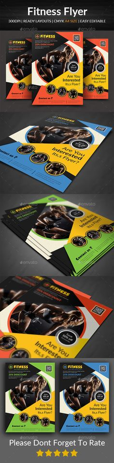 #Fitness #Flyer - #Corporate Flyers Download here:  https://graphicriver.net/item/fitness-flyer/19307017?ref=alena994