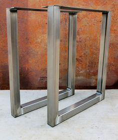 Most cost efficient legs to buy!!!!! The bottom plastic caps as shown in the images makes the fabrication process faster so you save more money and prevent your floor from being scratched!! Welds are carefully welded so there is a clean smooth connection as shown in the images. Legs will ship out next business day!!!!!!!! SPECIFICATIONS: Price is for set of 2 Material: -2x2 14 Ga. Squared Steel Tube -(4) 2x2 Plastic Caps to protect floor Top Plate: -4x3/16 Thick Top Plate with 5/...