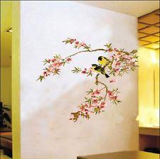 Beautiful FLOWER TREE Birds Vinyl Home decor Wall Art Decal Sticker REMOVABLE eh