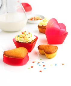 Take a look at this Silicone Heart Cupcake Liner - Set of Six by Mastrad on #zulily today!