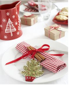 la decoración de mis mesas: Ideas fáciles para la mesa de Navidad