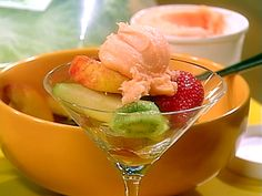 Fruit Salad with Orange Liqueur and Sorbet from FoodNetwork.com