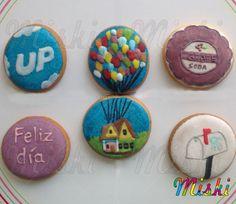 Galletas edicion especial Up-una aventura de altura Mailbox, Sugar, Cookies, Desserts, Food, Happy, Shortbread Cookies, Fiestas, Biscuits