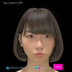 Saya_facial test pick_001 Saya表情テスト中 その1