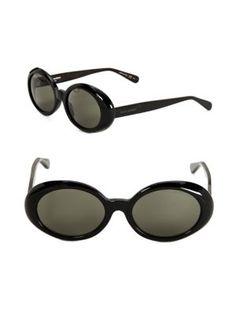 SAINT LAURENT 53mm Round Sunglasses. #saintlaurent #sunglasses