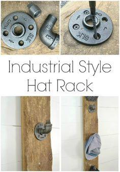 Wrangle all those baseball hats with some industrial style. | iamahomemaker.com
