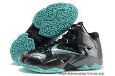 huge selection of 92101 1a235 Carbon Noir Neo Turquoise Nike Lebron XI (11) En Ligne Turquoise, Nike