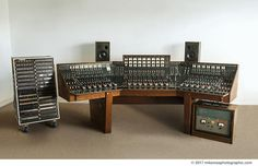 An Abbey Road Studios EMI TG12345 MK IV recording console used between 1971-1983, housed in Studio 2, the console which Pink Floyd used to record their landmark album, The Dark Side of the Moon.  © 2017Mikerossphotographic.com