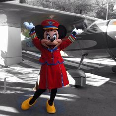 "Minnie in her ""Fly Girl"" outfit #Disneyland"