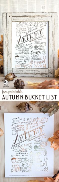 The Ultimate Autumn and Fall October Bucket List - you can download a copy of it on polkadotchair.com