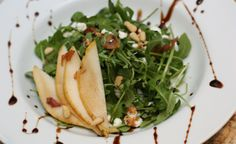 Pear and Goat Cheese Salad with Balsamic Reduction - Against All Grain - Award Winning Gluten Free Paleo Recipes to Eat Well & Feel Great