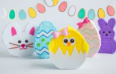 Adorable Easter pinatas! Great idea instead of an Easter basket!!