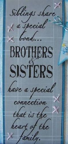 brother sister quotes - Google Search
