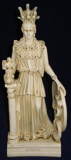 athena minerva pallas greek statue figure NEW patina