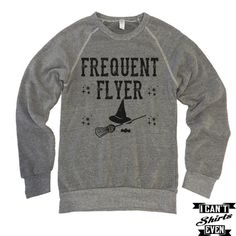 Frequent Flyer Halloween Shirt. Eco-Fleece Sweatshirt. Hocus Pocus. Unisex