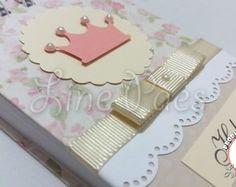 Bloquinho 8x11 cm - Scrap Coroa/Princesa