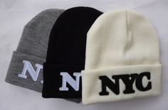 Free Shipping 2014 New Arrival NYC Winter Warm Sports Knit Beanies Hat for Men and Women Winter Cap Skully $9.99
