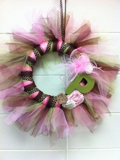 Baby shower wreath. Perfect for Miss Peyton!