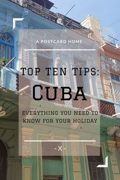 Want the best tips for your trip to Cuba? Check out these top ten tips for Cuba holidays  https://apostcardhome.co.uk/2017/04/26/top-ten-tips-cuba/ | Travel Hacks | Cuba | Caribbean |