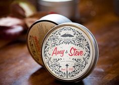 Cute favors - soy candles with personalized labels
