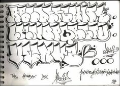 graffiti alphabet styles bubble Graffiti style alphabet | Design ...