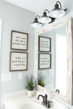Love these quotes! Perfect bathroom!