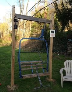 Do I attempt to make one of these myself? An old chairlift would be just prefer for setting the alpine theme outside my shed! Where can I get my hands on one of these?