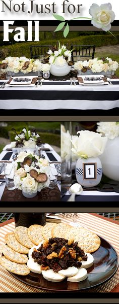 Black, White and Cocoa Brown Party Palatte
