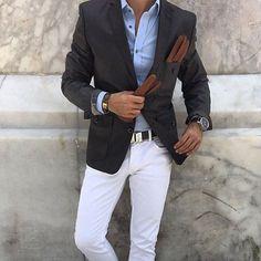white jeans men's outfit - Google zoeken | Men: The white chino ...