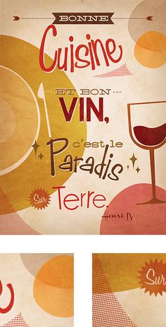 Poster Typographique by Alix Ducamp, via Behance #wine