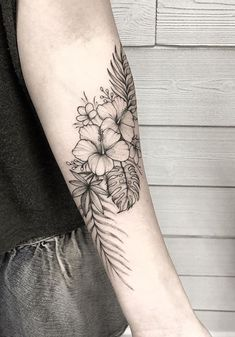 60+ Black & Gray Flower Tattoos by Anna Bravo - List Inspire