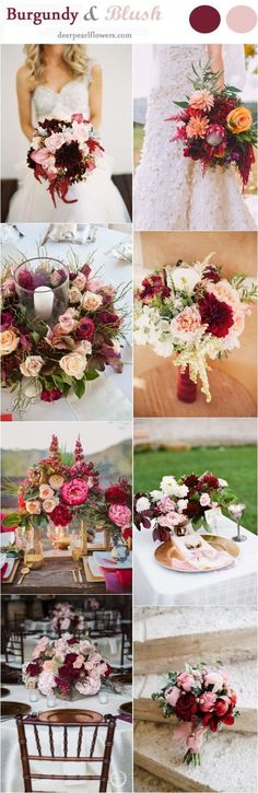 Blush and Burgundy Fall Wedding Ideas / http://www.deerpearlflowers.com/burgundy-and-blush-fall-wedding-ideas/ #WeddingIdeasFall