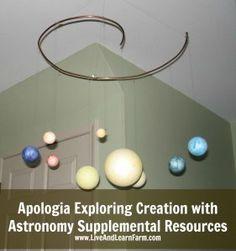Apologia Exploring Creation with Astronomy - Montessori style