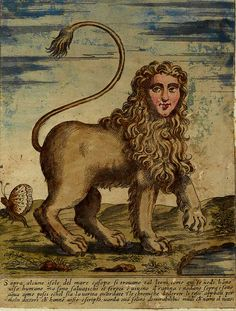 Lion with human face