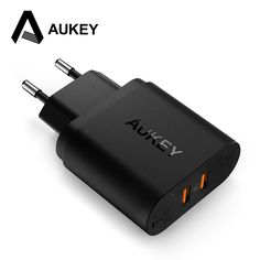 AUKEY 36W Dual USB Port Travel Wall Charger With Qualcomm Quick Charge 3.0 for Motorola Nexus 6 and more Smartphone -- View the item in details by clicking the VISIT button