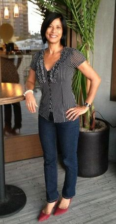 Casual Outfits for Women Over 40   casual-clothes-for-women-over-40   Fabulous After 40: - I love this top!