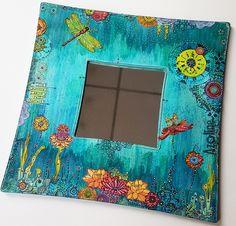Azoline 2017-Miroir turquoise-Carabelle Studio stamps