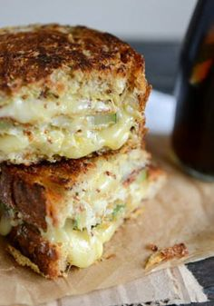 Crispy Zucchini Grilled Cheese with Dijon Horseradish Aioli