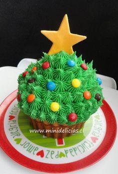 Cupcake Gigante Navidad / Christmas