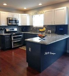 Kitchen Cabinet Makeover With General Finishes Snow White And Queenstown Gray Milk Paint